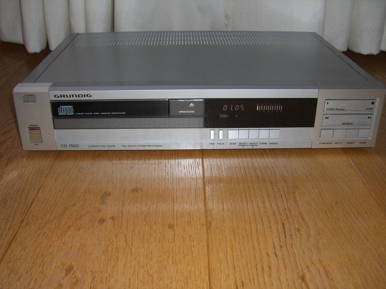 grundig cd 7550 modifiziert restauriert non os gebraucht. Black Bedroom Furniture Sets. Home Design Ideas