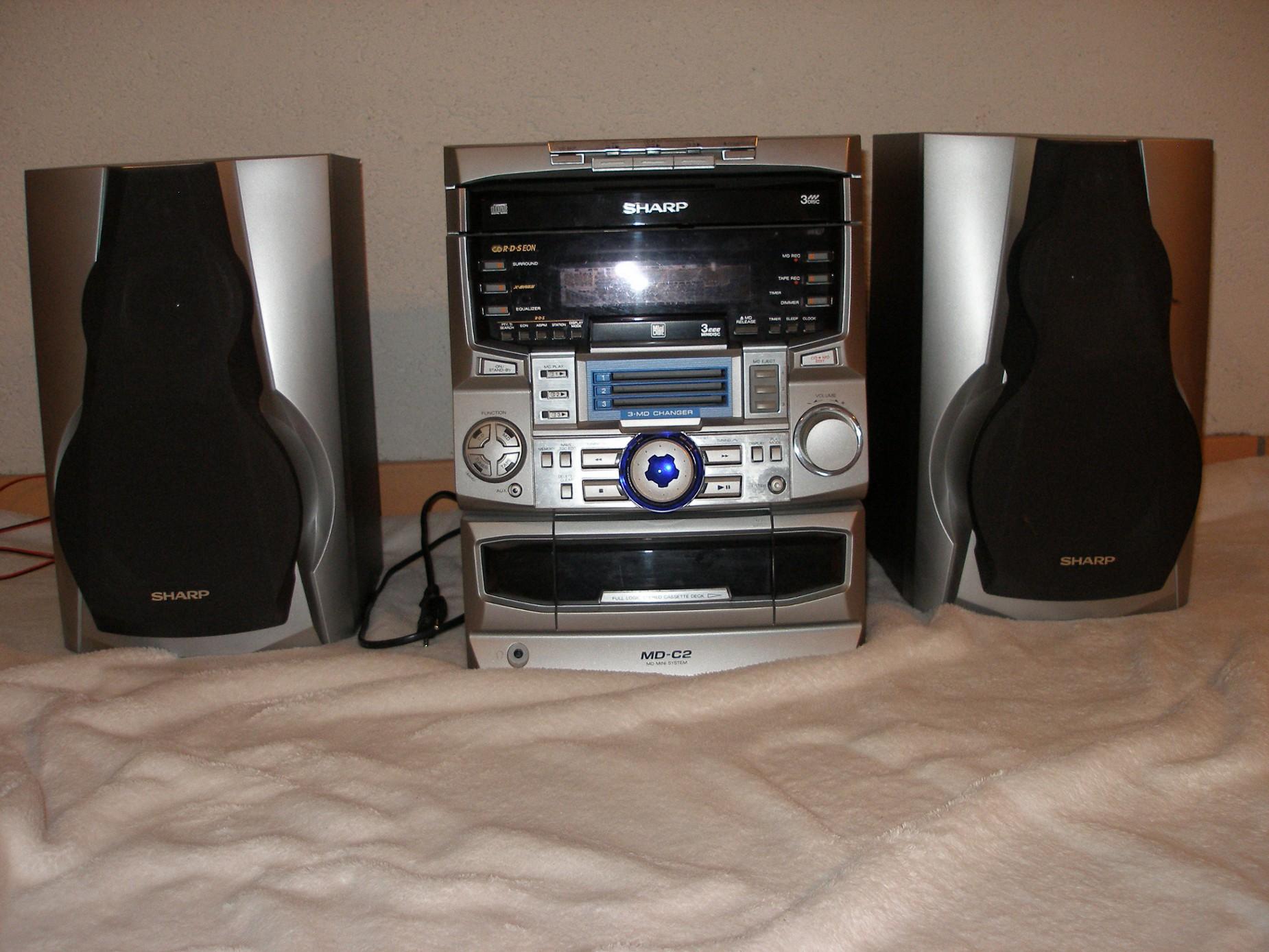 sharp stereoanlage md c2h gebraucht hifi gebraucht kaufen und verkaufen hifi anlagen f r. Black Bedroom Furniture Sets. Home Design Ideas